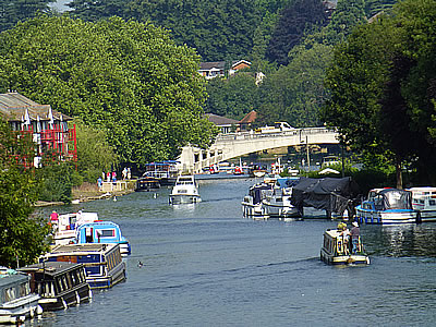 View of Caversham Bridge and the River