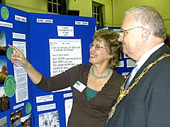 Helen Lambert (Chairman) with the Mayor, Councillor Chris Maskell